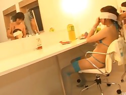 Virgrator makes the ribald Japanese chick squirt and groan