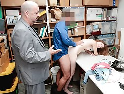 Shoplyfter - Teen Arrested And Plowed In Front Of dad