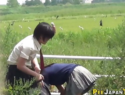 Japanese teen stunners piss
